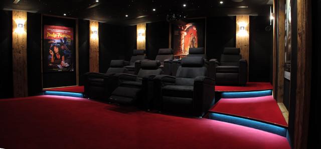 Salle De Cinema Privee 42 M2 Avec Fauteuils D Box Chalet