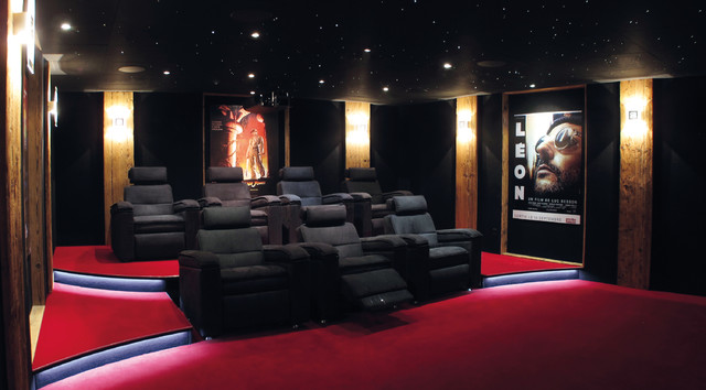 salle de cin ma priv e 42 m2 avec syst me d box chalet suisse votre cinema contemporain. Black Bedroom Furniture Sets. Home Design Ideas