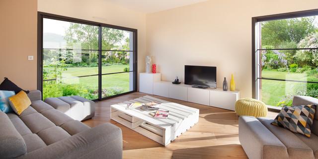 Accompagnement construction maison neuve contemporain for Interieur maison neuve