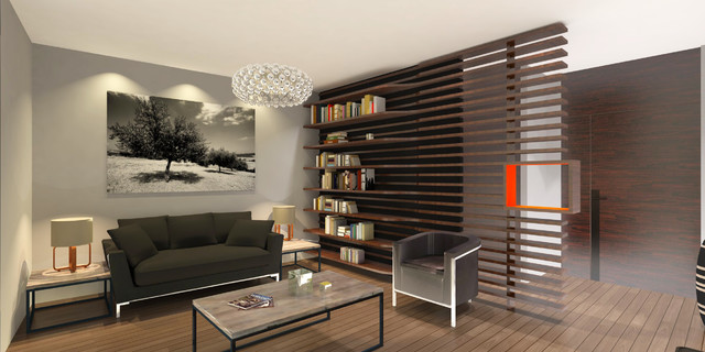 am nagement d 39 un studio. Black Bedroom Furniture Sets. Home Design Ideas