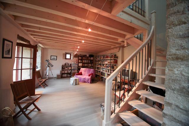 am nagement d 39 une maison d 39 amis dans une ancienne curie campagne salle de s jour lyon. Black Bedroom Furniture Sets. Home Design Ideas