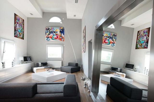 Aménagement intérieur - salon - Minimalistisch - Wohnzimmer ...