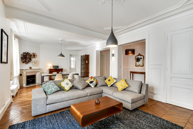 Ameublement appartement haussmannien pour la location - Contemporary ...