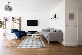 appartement 90m2 terrasse levallois perret scandinave salle de s jour paris par. Black Bedroom Furniture Sets. Home Design Ideas