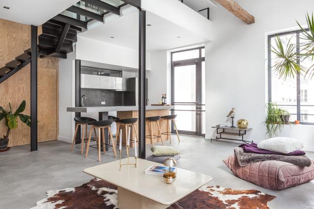 appartement bar contemporain salle de s jour other metro par felix millory architecture. Black Bedroom Furniture Sets. Home Design Ideas