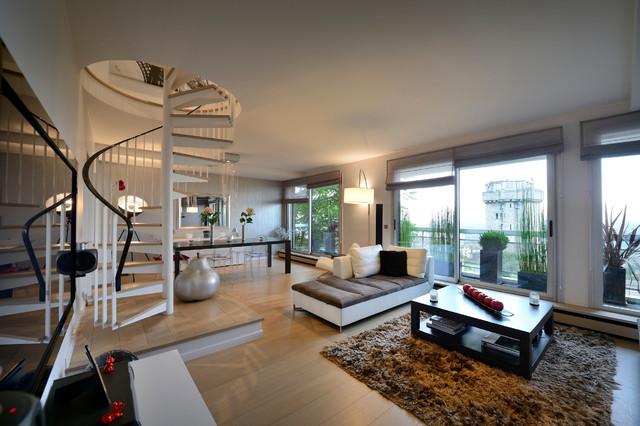 Appartement duplex suresnes contemporain salle de for Appartement duplex design