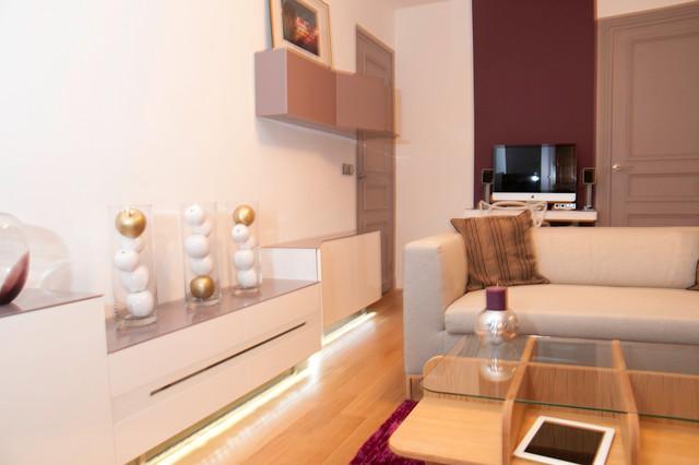 Appartement glamour 2pi ces 35m2 paris for Appartement 35m2 design