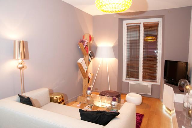 Mamadeko paris décorateurs et stylistes dintérieur appartement glamour 2pièces 35m2 paris contemporain salle de sejour