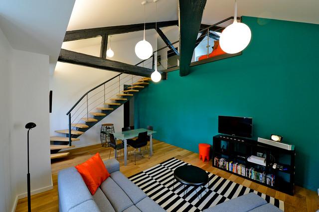 appartement lo contemporain salle de s jour nancy par atelier mpa. Black Bedroom Furniture Sets. Home Design Ideas