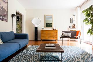 r am nagement d 39 un appartement contemporain saint germain. Black Bedroom Furniture Sets. Home Design Ideas