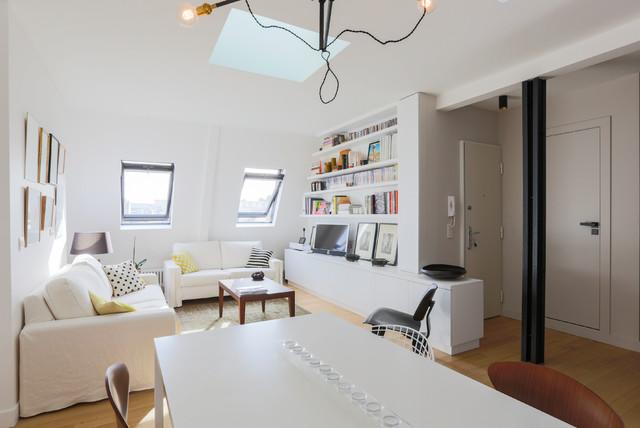 Appartement spacieux et lumineux 65m2 scandinavian for Carrelage parisien