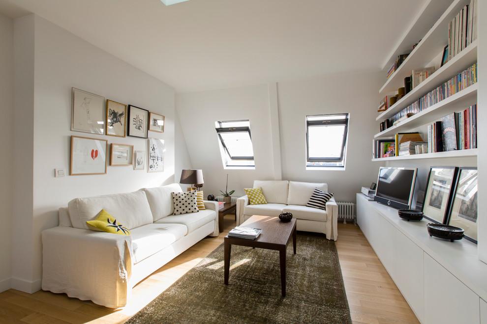 Inspiration pour une salle de séjour nordique.