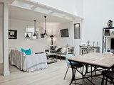contemporary family room Houzz Tour: A Light Filled Paris Studio Redesigned for Living (14 photos)