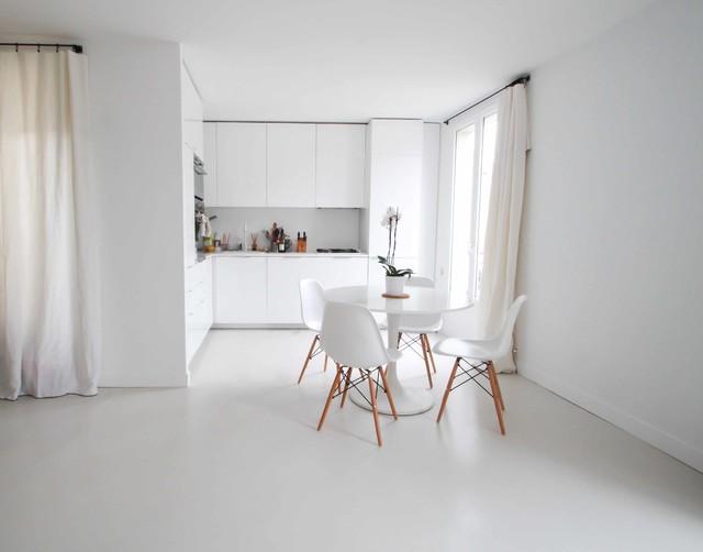 Béton ciré autolissant blanc – Appartement privé - Contemporary ...