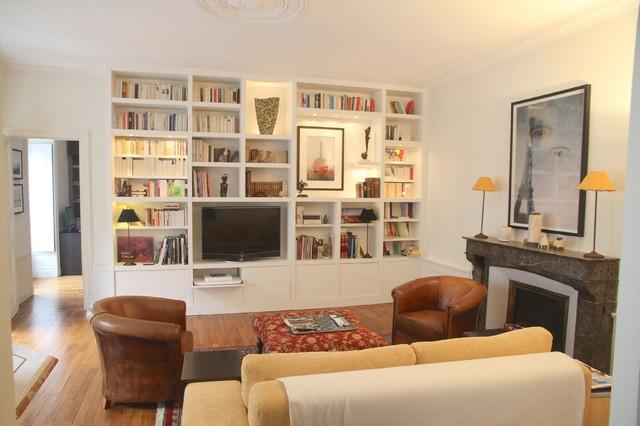 Bibliotheque Sur Mesure Medium Laque Blanc