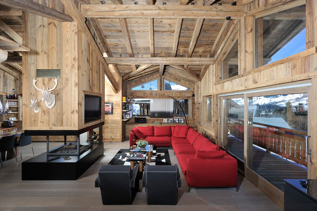 Chalet megeve for Chalet design contemporain