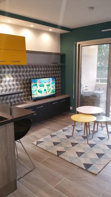 cuisine type sacndinave touche vintage scandinave salle de s jour other metro par. Black Bedroom Furniture Sets. Home Design Ideas