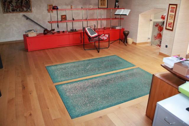 dalle de sol moderne salle de s jour nancy par miroiterie righetti. Black Bedroom Furniture Sets. Home Design Ideas