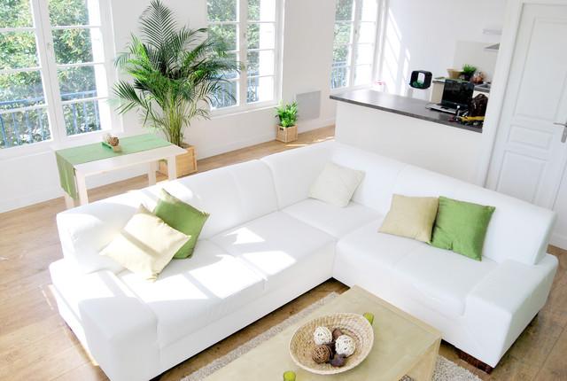 D coration appartement brest moderne salle de s jour for Decoration sejour contemporain