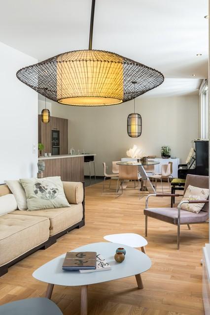 d coration d 39 un appartement neuf dans le programme cheverus asiatique salle de s jour. Black Bedroom Furniture Sets. Home Design Ideas