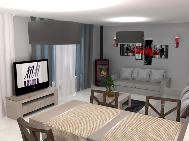 d coration et mise en sc ne d 39 un s jour visuel 3d contemporain salle de s jour marseille. Black Bedroom Furniture Sets. Home Design Ideas