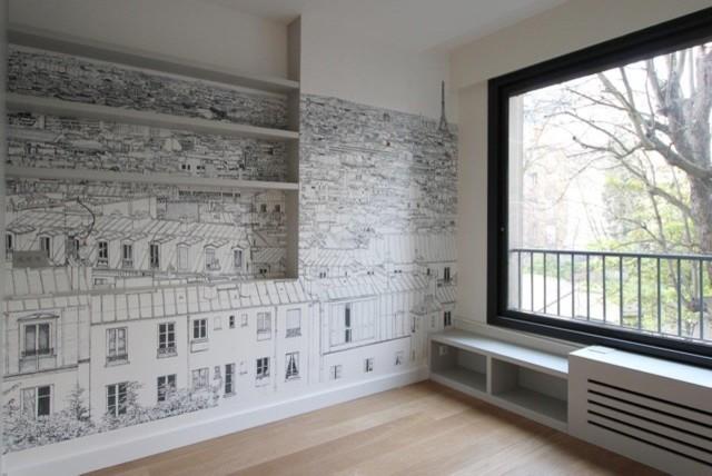 dossier papier peint moderne salle de s jour other. Black Bedroom Furniture Sets. Home Design Ideas