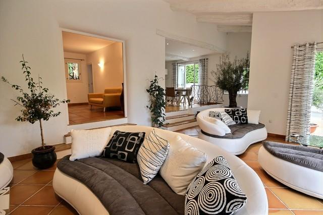Entrée-salon-salle à manger - Modern - Wohnzimmer - Nizza - von Avéo ...