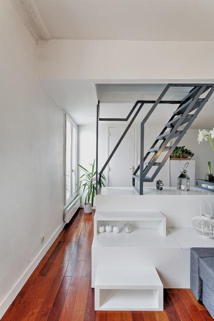 Escalier - table - Contemporain - Salle de Séjour - Paris - par ...