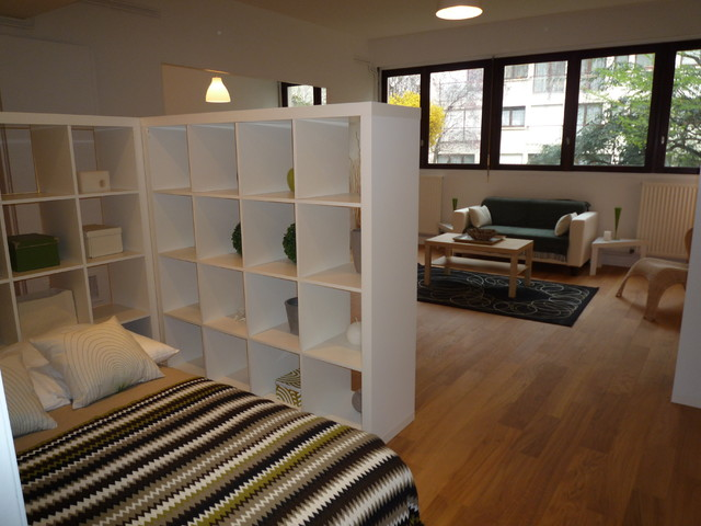 Grand studio paris contemporain salle de s jour paris par perfect home d co - Idees deco studio ...