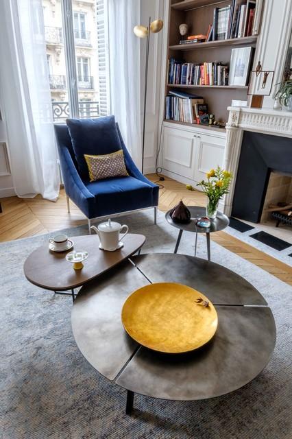haute couture contemporain salle de s jour paris par agence v ronique cotrel. Black Bedroom Furniture Sets. Home Design Ideas