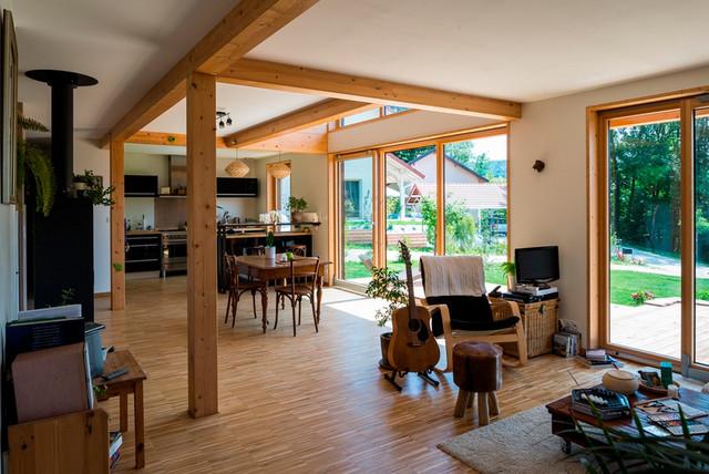 les r alisations maison bois poteau poutre chaumont 74. Black Bedroom Furniture Sets. Home Design Ideas