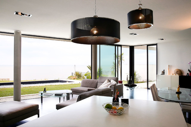 maison angoulins sur mer 01 contemporain salle de s jour nantes par lionel coutier. Black Bedroom Furniture Sets. Home Design Ideas