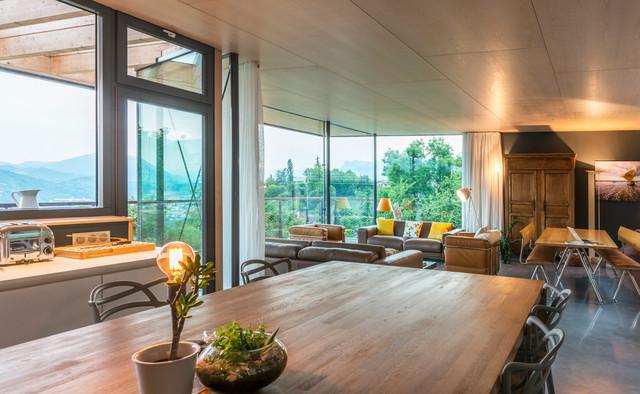 maison b scandinave salle de s jour grenoble par r2k architectes. Black Bedroom Furniture Sets. Home Design Ideas