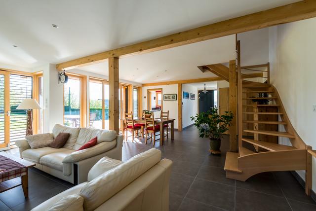 maison bois poteau poutre aix les bains 73. Black Bedroom Furniture Sets. Home Design Ideas