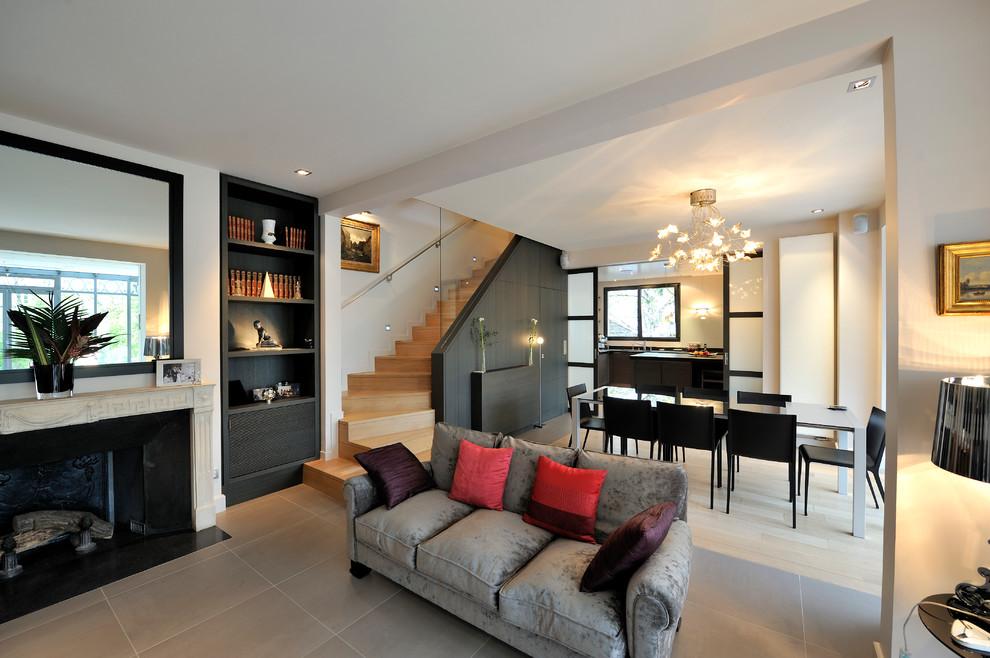 Foto di un soggiorno design