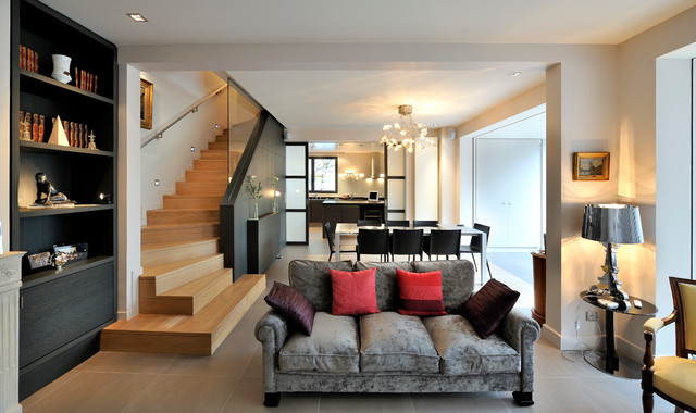 Maison suresnes contemporain salle de s jour paris for Sejour design