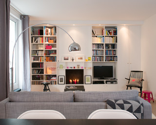 Mathilde skandinavisch wohnzimmer paris von rutta interieurs - Gartenhaus gemutlich einrichten ...