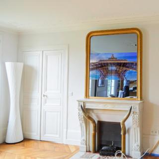miroir tv trumeau haussmannien paris x. Black Bedroom Furniture Sets. Home Design Ideas