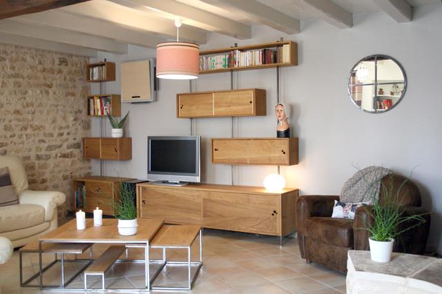 Mobilier sur mesure (meuble tv, hifi, bibliothèque et table bass -> Mesure Table Tv