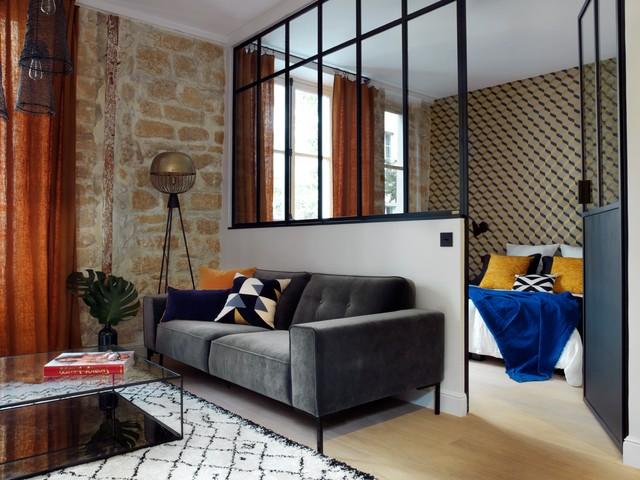Paris 3ème, Appartement de 45m2 contemporain-salle-de-sejour