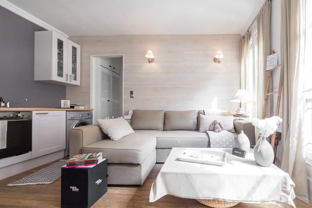 paris ix - appartement 25m2 - Wohnzimmer Klassisch Modern