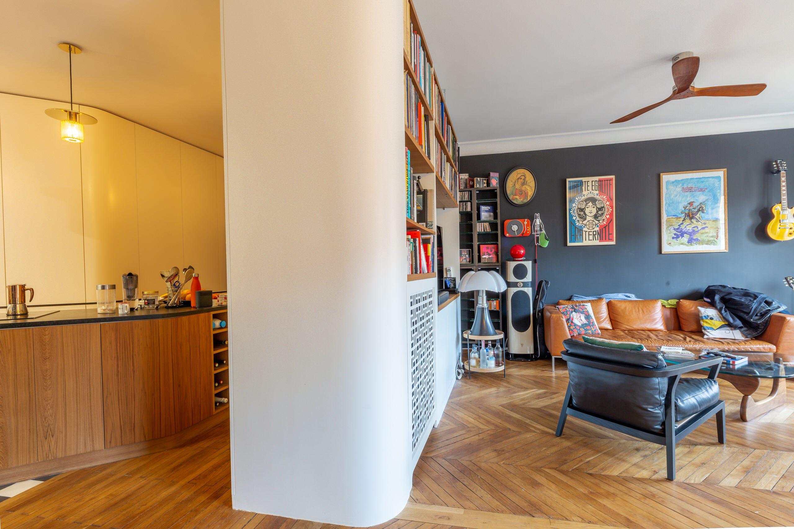 Menuiseries d'un appartement totalement rénové
