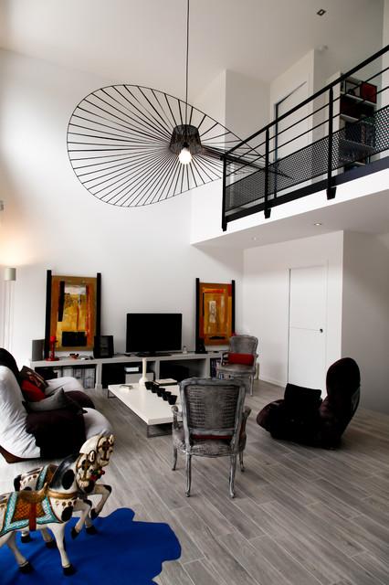 projet r contemporain salle de s jour rennes par leicht vannes lorient. Black Bedroom Furniture Sets. Home Design Ideas