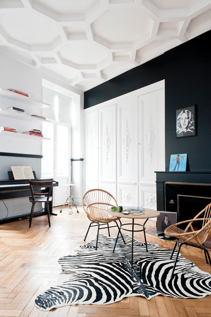 r novation d 39 un appartement haussmannien contemporaneo. Black Bedroom Furniture Sets. Home Design Ideas
