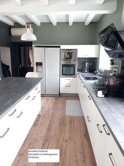Rénovation d un séjour et dune cuisine - Modern - Wohnzimmer ...