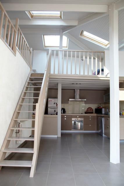 r novation d 39 une ferme campagne salle de s jour lille par milie bigorne architecte d. Black Bedroom Furniture Sets. Home Design Ideas