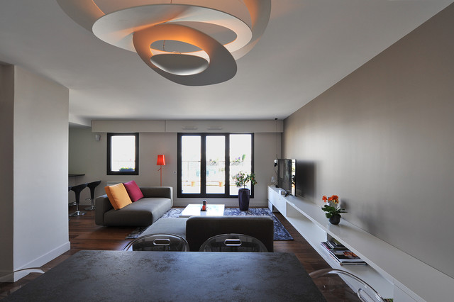Stunning lustre salle a manger moderne contemporary for Luminaire suspension sejour