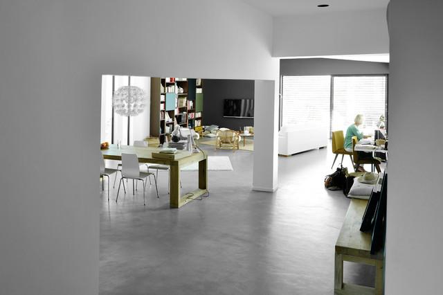 Betonfußboden Wohnzimmer ~ Sols en béton ciré © christel mauve photographe pour chapisol