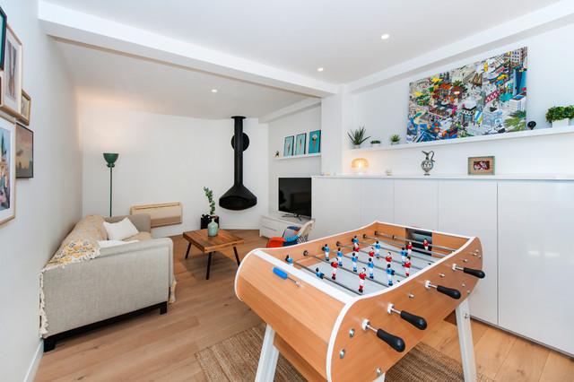Transformation d un atelier en un loft familial contemporain et
