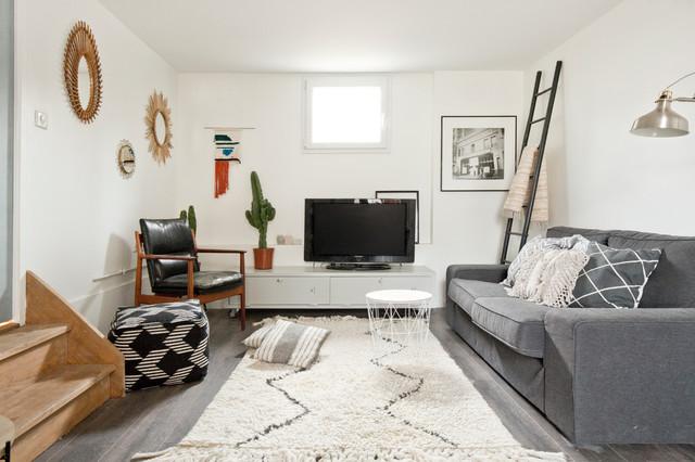 Une maison de famille viry ch tillon scandinave for Une salle de sejour